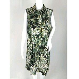 NWT Simply Vera wang shirt dress swirl print xl